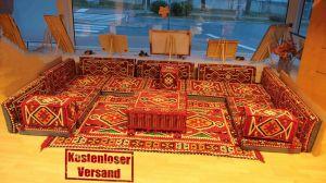 Orientalische Sitzecke, Sark Kösesi, 21-tlg. Orientalische Ecke, Bodenkissen, Orient Ecke