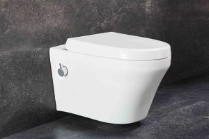 Hänge Wand WC, mit Armatur, Ege Seramik Taharet Bidet Toilette, Softclose Deckel