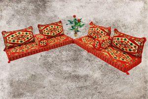 Sark Kösesi, Orientalische Sitzmöbel, 8-tlg. Orientalische Sitzecke, Shisha-Ecke