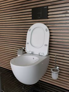 Hänge-WC, Taharet-/Bidet-Funktion, Toilette inkl. Softclose-Deckel, Spülrandlos, FE322-2