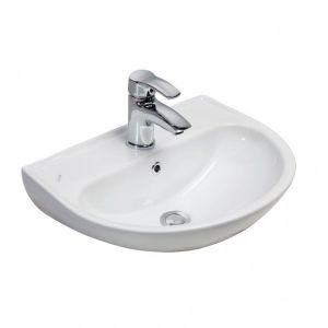 Keramik-Wandmontage SD060, Waschtisch, Hängewaschbecken ohne Halbsäule, 46 x 60 cm