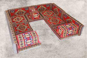 Orientalische Sitzkissen, Orientalische Sitzecke, Sark Kösesi, 16-tlg. Orientalisches Sofa