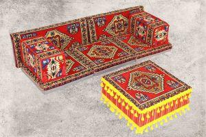 8-tlg. Kissenset, Orientalisch, Sark Kösesi, Yastik, Orient-Sitzecke, Sitzkissen-Set
