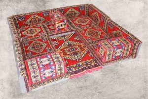 17-tlg. Orientalische Sitzecke - Sark Kösesi - Orientalisches Sofa + Teppich