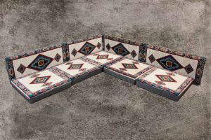 Orientalische Sitzecke, Sark Kösesi, Orientalische Sitzkissen, Kelim, BJ1