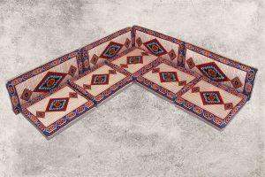 Orientalische Sitzecke, Sark Kösesi, Orientalische Sitzkissen, Kelim