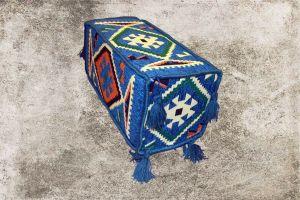 Orientalisches Sitzkissen, Armlehne, Sark Kösesi, blaue Armlehne für Orientalisches Sofa