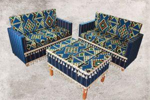 Orientalische Sitzecke, Sark Kösesi, Orientalische Sitzmöbel , Blau Zeder 1