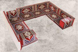 Orientalische Sitzecke, Orientalische Sitzkissen, Sark Kösesi, Kelim