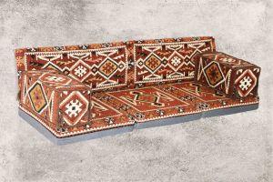 7-tlg. Kissenset, Orientalisch, Sark Kösesi, Yastik, Orient-Sitzecke, Sitzkissen-Set