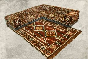 Orientalische Sitzecke, Sark Kösesi, 13-tlg. Orientalische Sitzgruppe, mit Füllung