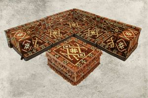 Orientalische Sitzecke, Sark Kösesi, 12-tlg. Orientalische Sitzgruppe, mit Füllung