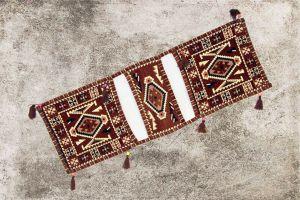 Orientalisches Sitzkissen, Tasche, Sark Kösesi, Orient-Deko, Orientalische Satteltasche