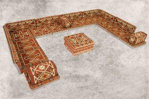 Orientalische Sitzkissen, Sitzecke, Sark Kösesi, 24-tlg. Orientalisches Sofa