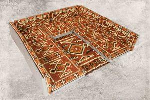 14-tlg. Orientalische Sitzecke - Sark Kösesi - Orientalisches Sofa + Teppich