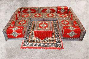Orientalische Sitzecke, Sark Kösesi, 19-tlg. Orientalisches Sofa, Orientalische Ecke
