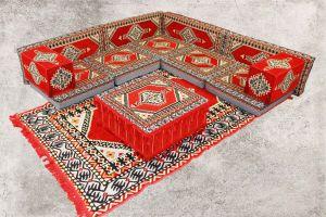 Orientalische Sitzecke, Sark Kösesi, 13-tlg. Orientalische Sitzgruppe, Ottomane