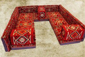 Orientalische Sitzecke, Sark Kösesi, 16-tlg. Orientalische Ecke mit Füllung