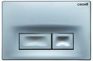 Graue Betätigungsplatte GP3002, Toilettenspülung grau, Spülauslösung, 2-Mengen-Spülung