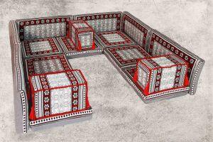 Orientalische Sitzecke, 16-tlg. Orientalische Sitzmöbel, Orient-Möbel, Sark Kösesi