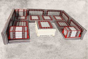 Orientalische Sitzecke, 18-tlg. Sark Kösesi, Orientalische Sitzmöbel, Orient-Möbel