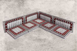 Orientalische Sitzecke, 9-tlg. Sark Kösesi, Orientalische Sitzmöbel, Orient-Möbel