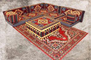 Orientalische Sitzkissen, Sitzecke, Sark Kösesi, 13-tlg. Orientalisches Sofa