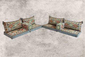 Orientalische Sitzecke, Orientalische Sitzmöbel, 8-tlg. Sark Kösesi