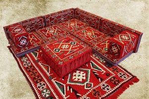 Orientalische Sitzecke, Sark Kösesi, Bodenkissen, Oriental Sofa, 14-Tlg