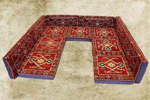 Orientalische Sitzecke, Sark Kösesi, 13-tlg. Orientalische Sofa mit Füllung
