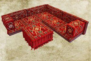 Orientalische Sitzecke, Sark Kösesi, Bodenkissen, Oriental Sofa, 13-Tlg