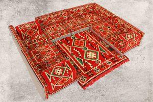 Orientalische Sitzkissen, Sitzecke, Sark Kösesi, 18-tlg. Orientalisches Sofa