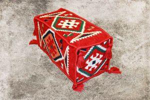 Orientalische Sitzkissen, Armlehne, Sark Kösesi, rote Armlehne für Orientalisches Sofa