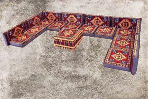 Orientalische Sitzkissen, Sitzecke, Sark Kösesi, 19-tgl. Orientalisches Sofas