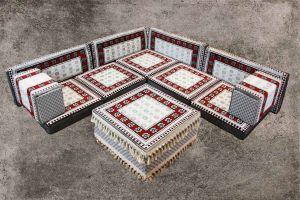Orientalische Sitzecke, 12-tlg. Orientalische Sitzmöbel, Orient-Möbel, Sark Kösesi