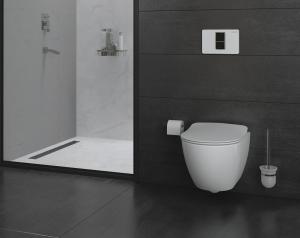 Hänge-Wand-WC, Taharet-/Bidet-Funktion, moderne Toilette, Softclose, FE320-2, Taharat