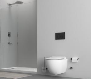 Hänge-Wand-WC, mit Armatur, moderne Taharet-/Bidet-Toilette, Softclose, FE320-4