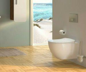 Spülrandloses Hänge-WC FE322-4, mit Armatur, Bidet-Funktion, Softclose-Toilette, Taharat