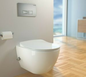 Hänge-Wand-WC, mit Armatur, moderne Taharet-/Bidet-Toilette, Softclose, FE320-3
