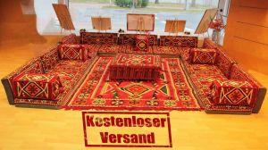 Sark Kösesi, 29-tlg. Orientalische Sitzecke, Orientalische Ecke, Bodenkissen, Orient-Deko