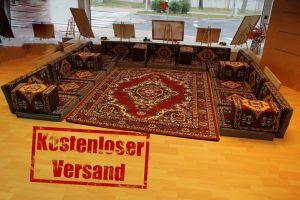 Orientalische Sitzecke, Sark Kösesi, 29-tlg. Orientalisches Sofa, Sitzkissen