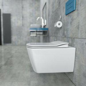 Creavit EG321-1, Hänge-Dusch-WC, Taharet-/Bidet-Toilette + WC-Deckel Softclose, Taharat, Spülrandlos