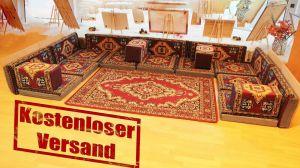 Orientalische Sitzecke, Sark Kösesi, 20-tlg. Orientalisches Sofa, Sitzkissen