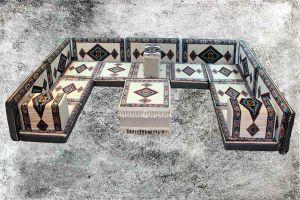 Orientalische Sitzecke, Orientalische Sitzkissen, Sark Kösesi, Kelim, BJ-7