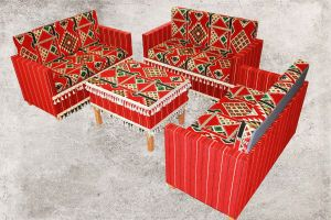 Sedir, Zeder, Orientalische Sitzecke, Sark Kösesi, Orientalische Sitzmöbel , Rot Zeder-2