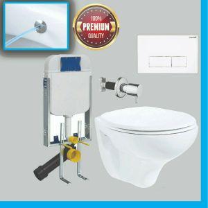 WC-Set mit Spülkasten, WC-Vorwandelement, Taharet-/Bidet-Komplettset, TP320