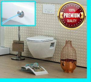 Hänge-Wand-Dusch-WC, Taharet-/Bidet-Funktion, Creavit-Toilette, TP325, mit Deckel, Taharat