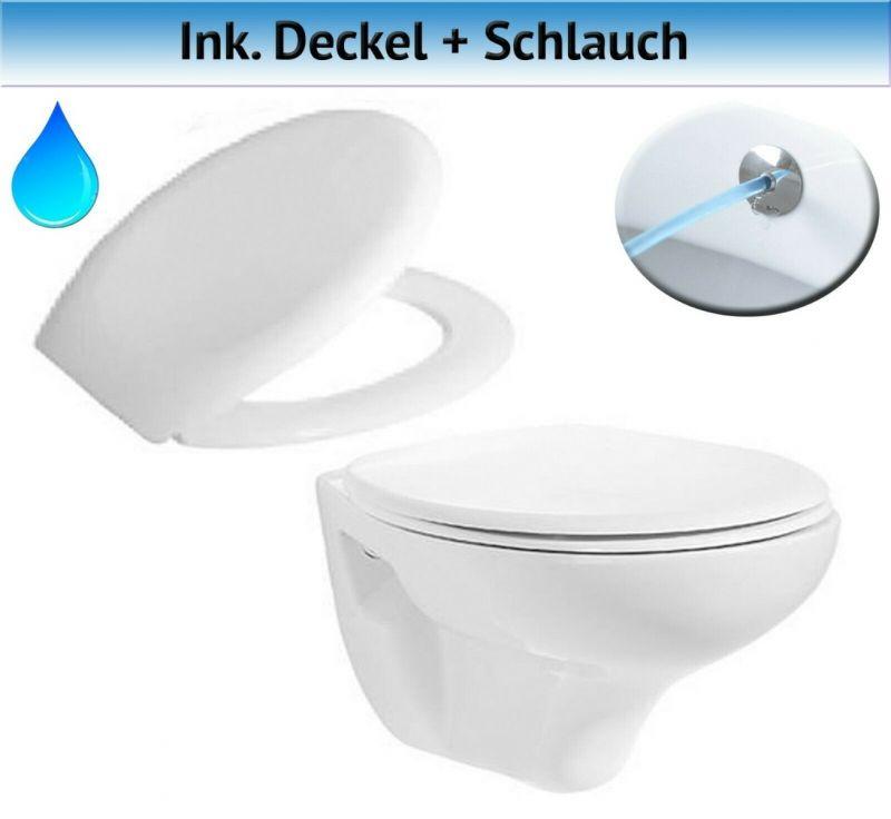 WC-Deckel inkl Wand-Hänge-WC TP320-1 weiße Keramik-Toilette Neu /& OVP