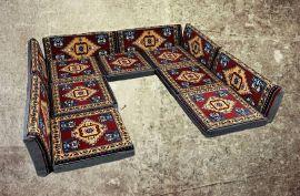 13-tlg. Kissenset, Orientalisch, Sark Kösesi, Yastik, Orient-Sitzecke, Sitzkissen-Set