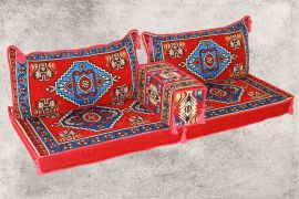 Orientalische Sitzecke, Sark Kösesi, Orientalisches Sofa, Kelim Sedir, 4-tlg.